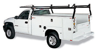BEAR Service Bodies installed on truck with optional rack.