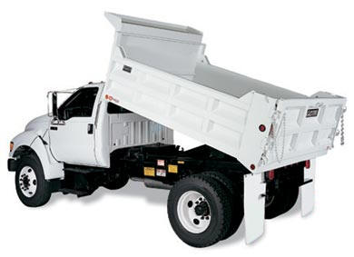BEAR Dump Bodies installed on truck.