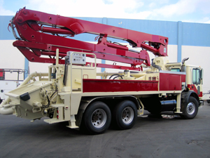 Bucket crane truck refinished with a two tone commercial fleet coatings.