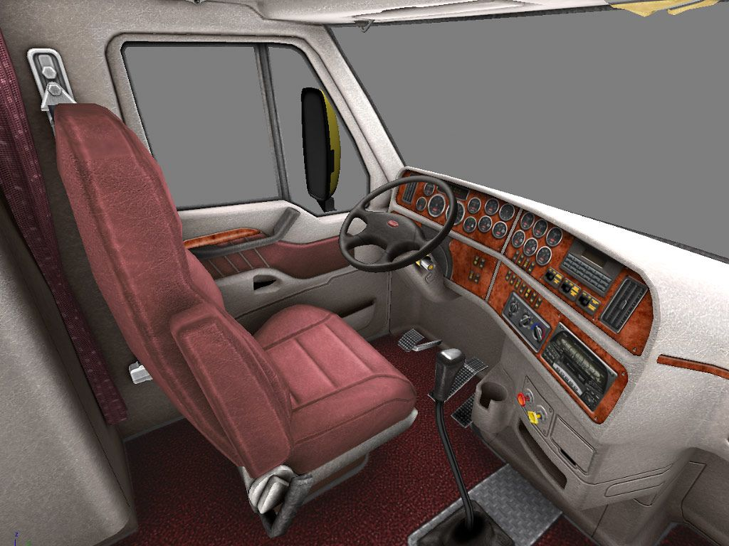 Detailing heavy truck cab interior includes steam cleaning carpets & seats.